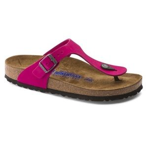Birkenstock Gizeh Patent Leather Pink Sandal 39